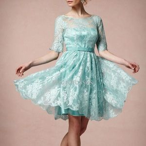 BHLDN Quillaree Tea Rose Dress Lace Mint 10 NWOT